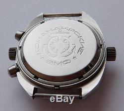 Okean Océan Urss Vintage Montre Russe Soviétique Poljot Chronographe 3133 3297