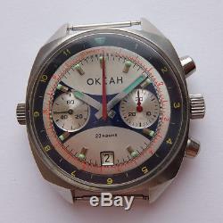 Okean Ocean Vintage Ussr Montre Soviétique Russe Poljot Chronograph 3133 2645