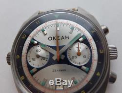 Okean Ocean Vintage Ussr Montre Soviétique Russe Poljot Chronograph 3133 4867