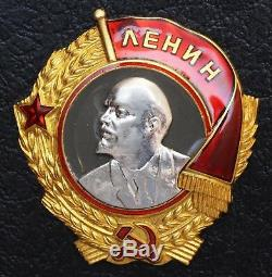 Ordre De Lénine Rare Vis Russe Urss Ordre Médaille Award. 11645 Platimun Or