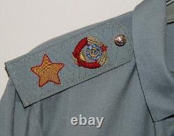 Original 1980 De L'armée Soviétique Russe Marshal De L'urss Chemise Uniforme Petrov