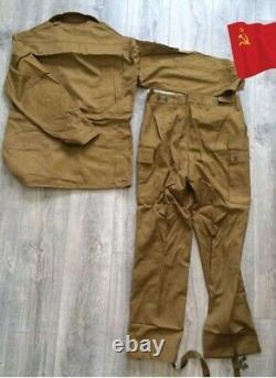 Original De L'armée Russe Soviétique Costume Afghan (jacket + Pantalons) Afghanistan Taille De La Guerre