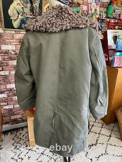 Original Manteau De Tranchée Armée Soviétique Militaire Bekesha Suédois / Russe Sheepskin Urss