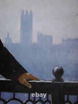 Pair Russe Ukrainian Soviétique Peinture À L'huile Marx & Lénine Réalisme Propagande