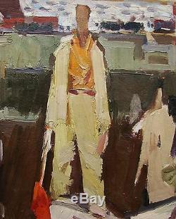 Peinture À L'huile Soviétique Russe Ukrainien Réalisme Propagande Sketches De Genre
