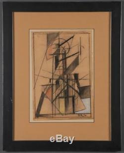 Peinture Constructiviste Abstraite Soviétique Russe De 1921 Par Boris Korolyov