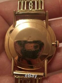 Poljot 14 Kt Montre Homme Rose Or 583 Russe Mécanique 23 Jewels Rare Soviétique