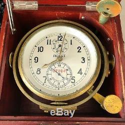 Poljot 6mx Chronometer Ship Marine Clock 1mchz Marine Soviétique Russe Militaire Urss