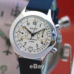 Poljot Chronograph 3133 Classic Standard Nos Montre Analogique Russe Urss