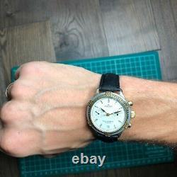 Poljot Chronograph 3133 Russian Soviet Vintage Watch Urss Rare 1990 Maintenu