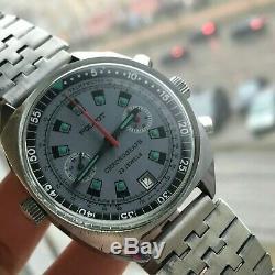 Poljot Chronographe Aviator Urss Russe Montre Homme Date De 3133 Tachymeter Serviced
