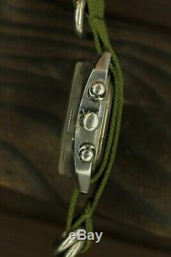 Poljot Soviétique Chronographe 3133 Shturmanskie Russe Montre Mécanique Serviced