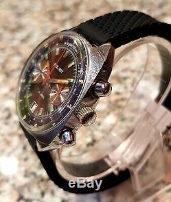 Poljot Sturmanskie 3133 Montre Vintage Soviétique Russe Urss Black Chronographe
