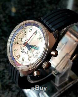 Poljot Sturmanskie 3133 Vintage Montre Soviétique Russe Ussr Chronograph