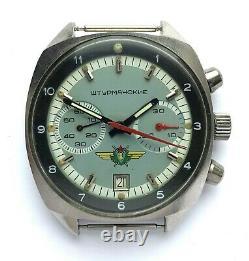Poljot Sturmanskie Urss Russian Watch Chronographe 31659 Acier Inoxydable
