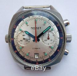 Poljot Urss Vintage Montre Russe Soviétique Chronographe Sturmanskie 3133 9741