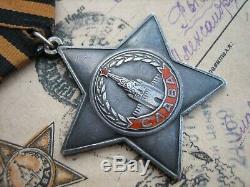 Prix de L'armée Soviétique Russe Ordre De Gloire # 530767 3e Classe + Bonus Poste Militaire