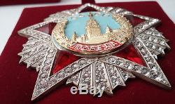 Prix soviétique Russe Le Plus Haut Ww2 Ordre De La Victoire 1945 Cristaux Swarovski Copie