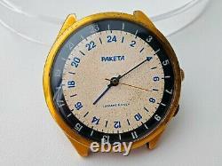 Raketa 24 Heures Montre Vintage Soviet Russe Wristwatch Cal. 2623. H Mécanique