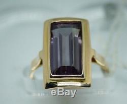 Rare Bague De Bijoux Vintage Russe Soviétique Urss Or Rose 14k 583 S-16,0 Alexandri