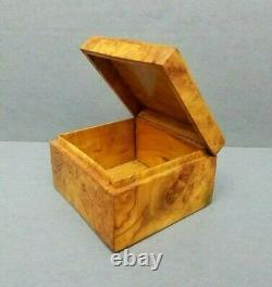 Rare Karelian Birch Box Russie Bois Union Soviétique Vintage Rare Burlwood Urss Vtg