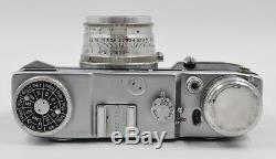 Rare! Leningrad Lomo Urss Russe Caméra + Lentille Jupiter-8 # 589022