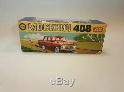 Rare Moskvitch 408 71 A1 Souvenir + Box Russe Urss