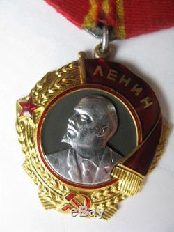 Rare Original Or Russe Et Platine Orden Ordre / Médaille / Insigne De Lenina