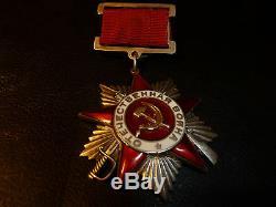 Rare! Russie Urss Ordre Patriotique Guerre 12692 T1v3 Suspension Médaille Médaille Russe