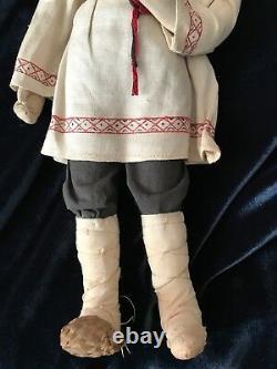Rare Stockinette Male Doll 1920 1940s Union Russe/soviétique