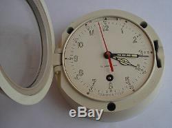 Rare Type Horloge Murale Navale Marine Navire Soviétique Russe Sous-marine 3-72