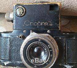 Rare Urss Gomz Sport Caméra Caméra Soviétique De Russie Avec Le Cas