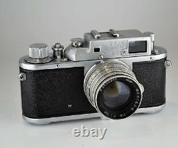 Rare Urss Russe Zorki 3m Leica Copy Camera + Jupiter-8 Lens, F2/50