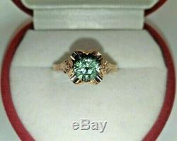 Rare Vintage Bague Royal Alexandrite Or 583 14k Urss Timbre Étoile Soviétique De Russie
