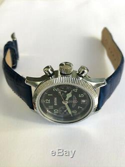 Rare Vintage Buran Poljot Chronographe 3133 Urss Militaire Black Russian Montre # 2