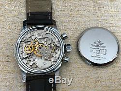 Rare Vintage Buran Poljot Chronographe 3133 Urss Militaire Noir Russian Watch # 8