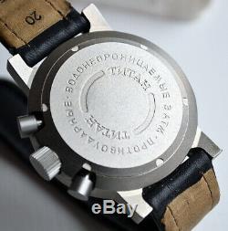 Russe Poljot Sturmanskie Ss-18 Titanium Chronographe Montre Cccp Urss Soviétique