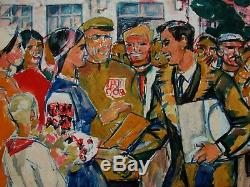 Russe Réalisme Peinture Soviétique Ukrainien Vacances Rural Kolkhoziens Genre