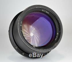 Russe Urss 18-lames Lomo Industar-37 Lens F4.5 / 300 Pour Grand Format (1)