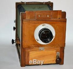 Russe Urss Fkd 13x18 Camera Grand Format + Objectif Industar-51, F4.5 / 210