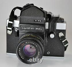 Russe Urss Kiev-60 Ttl Caméra De Format Moyen + MC Volna-3 Lentille, F2.8/80mm (2)