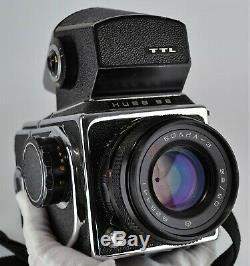 Russe Urss Kiev-88 Camera Format Moyen + MC Volna-3 F2.8 / 80 Lens
