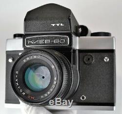 Russe Urss Moyen Ttl Kiev-60 Format Camera + MC Volna-3 F2.8 / 80