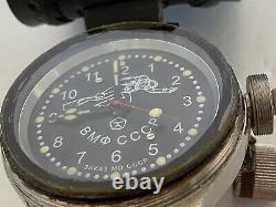 Russian Military Diver Montre De Plongée Mécanique Soviet Navy Urss 59 MM Raven