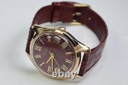 Russian Rose 14k 585 Soviet Solid Gold Vintage Polet Montre Homme Vw001