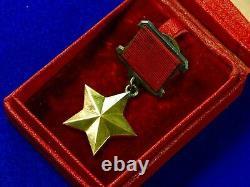 Russie Russie Urss Ww2 Héros D'or De L'union Soviétique Ordre #7570 Médaille D'insigne