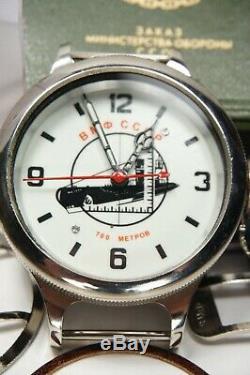 Russie Urss Divers Soviétiques Regardent Zlatoust Cccp Vmf Typhoon 700m Sous-marin Blanc