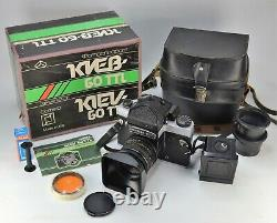 Russie Ussr Kiev-60 Ttl Format Moyen Caméra + MC Volna-3 Objectif, Boxed Set (8)