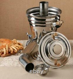 Samovar Russe Traditionnel Sur Le Bois Original De L'urss 5 Litres