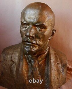 Sculpture Soviétique Russe De Tête De Buste Lenin XXXXL Statue Monumentale Urss